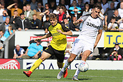 Derby County midfielder Tom Lawrence on the ball during the Pre-Season Friendly match between Burton Albion and Derby County at the Pirelli Stadium, Burton upon Trent, England on 20 July 2019.