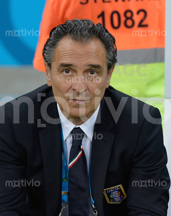 FUSSBALL WM 2014  VORRUNDE    Gruppe D     England - Italien                         14.06.2014 Trainer Cesare Prandelli (Italien)