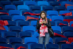 October 11, 2018 - Chorzow, Slask, Poland - Football fans during the UEFA Nations League A soccer match between Poland and Portugal at Silesian Stadium in Chorzow, Poland on 11 October 2018  (Credit Image: © Mateusz Wlodarczyk/NurPhoto via ZUMA Press)