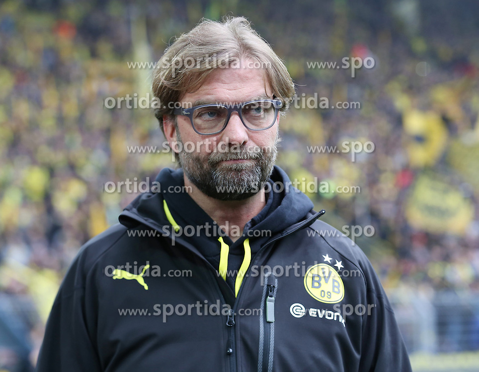 05.04.2014, Signal Iduna Park, Dortmund, GER, 1. FBL, Borussia Dortmund vs VfL Wolfsburg, 29. Runde, im Bild Trainer Juergen Klopp (Borussia Dortmund) // during the German Bundesliga 29th round match between Borussia Dortmund and VfL Wolfsburg at the Signal Iduna Park in Dortmund, Germany on 2014/04/05. EXPA Pictures &copy; 2014, PhotoCredit: EXPA/ Eibner-Pressefoto/ Schueler<br /> <br /> *****ATTENTION - OUT of GER*****