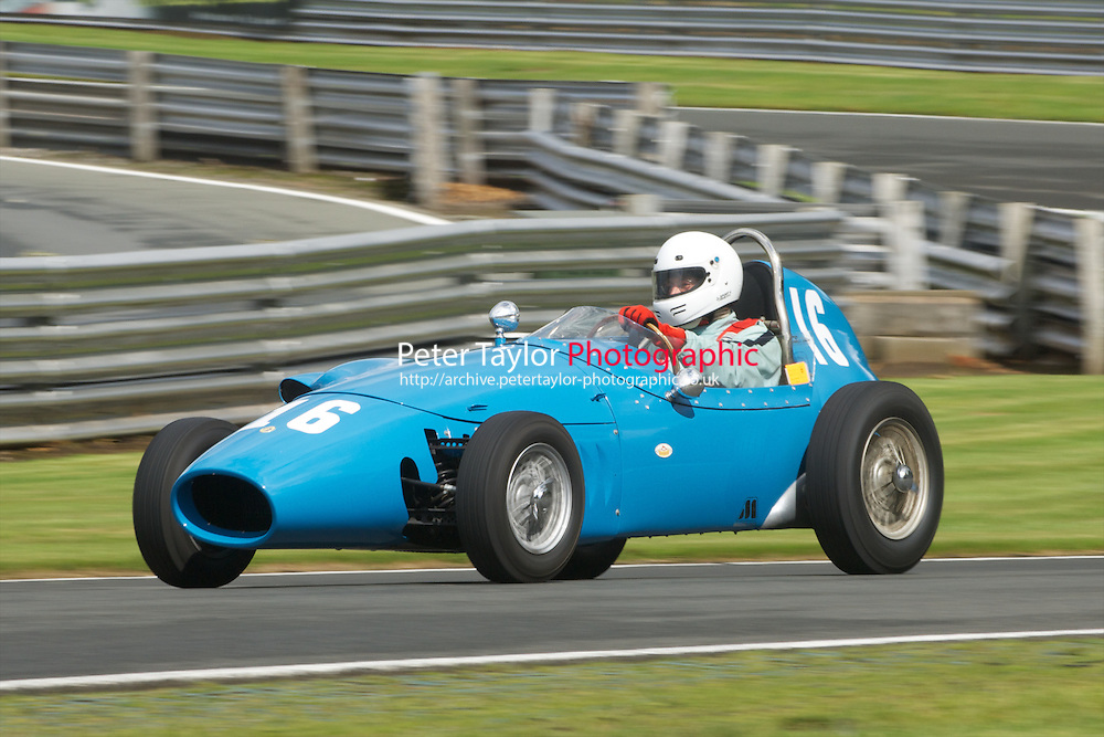 HSCC Gold Cup Oulton Park, Cheshire, United Kingdom.  28th-29th August 2011.  Race 2 HSCC/HFJRA JMW Front Engined Series. Historic Formula Junior Race A (Class A - B). 16 Gordon Wright Stanguellini. World Copyright: Peter Taylor/PSP. Copy of publication required for printed pictures. Every used picture is fee-liable.