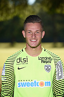 Alexandre Menay of Nancy poses for a portrait during the Nancy squad photo call for the 2016-2017 Ligue 1 season on August 25, 2016 in Nancy, France<br /> Photo : Fred Marvaux / Icon Sport