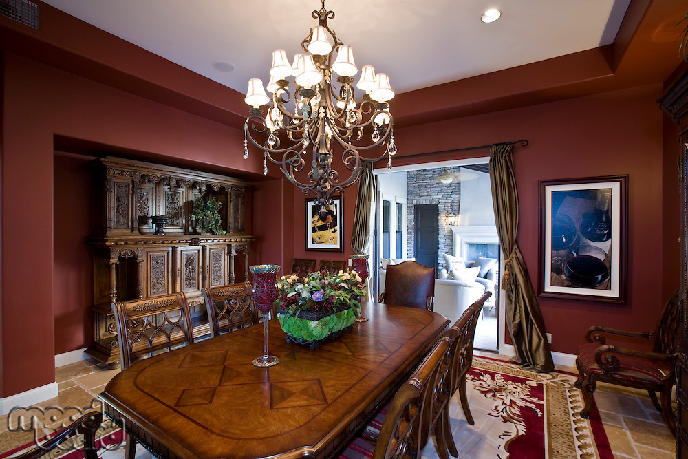 Luxurious old fashioned dining room