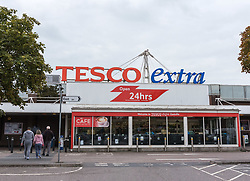 © Licensed to London News Pictures. 01/09/2018. Bristol, UK. General view of the Tesco Extra store in Eastville, Bristol, open as normal this morning after a stabbing took place yesterday evening in which two men were taken to hospital with serious injuries and one man was arrested by police. It is reported that a machete was used in the attack. Photo credit: Simon Chapman/LNP
