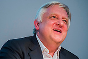 Simon Russell Beale takes up the Cameron Mackintosh Chair of Contemporary Theatre at St Catherine's College, Oxford. He is interviewd by Libby Purves. 02 March 2015. Guy Bell, 07771 786236, guy@gbphotos.com