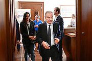Conferenza stampa per la presentazione del campionato Under 20 che si terr&agrave; a Lignano Sabbiadoro<br /> Nella foto: Gianni Petrucci<br /> Agenzia Ciamillo/Castoria