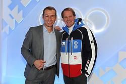 10.12.2013, Olympiahalle, Muenchen, GER, ARD und ZDF Olympia in Sochi, im Bild vl : Markus Othmer (Paralympics-Moderator ARD/BR), Markus Wasmeier (TV-Experte ARD/BR) bei der ARD/ZDF Olympia-PressekonferenzARD, ZDF werden, enger Zusammenarbeit von den XXII Olympischen Winterspielen vom 7 2 -23 2 2014, Sotschi mit einem vielfaeltigen Live-Angebot berichten. EXPA Pictures © 2013, PhotoCredit: EXPA/ Eibner-Pressefoto/ Stuetzle<br /> <br /> *****ATTENTION - OUT of GER*****