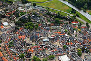 Nederland, Overijssel, Ommen, 30-06-2011;.Centrum van Ommen. Rechtsboven de Overijsselsche Vecht. Center of the village of Ommen. .luchtfoto (toeslag), aerial photo (additional fee required).copyright foto/photo Siebe Swart