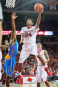 FAYETTEVILLE, AR - NOVEMBER 13:  Jimmy Whitt #24 of the Arkansas Razorbacks goes up for a layup during a game against the Southern University Jaguars at Bud Walton Arena on November 13, 2015 in Fayetteville, Arkansas.  The Razorbacks defeated the Jaguars 86-68.  (Photo by Wesley Hitt/Getty Images) *** Local Caption *** Jimmy Whitt