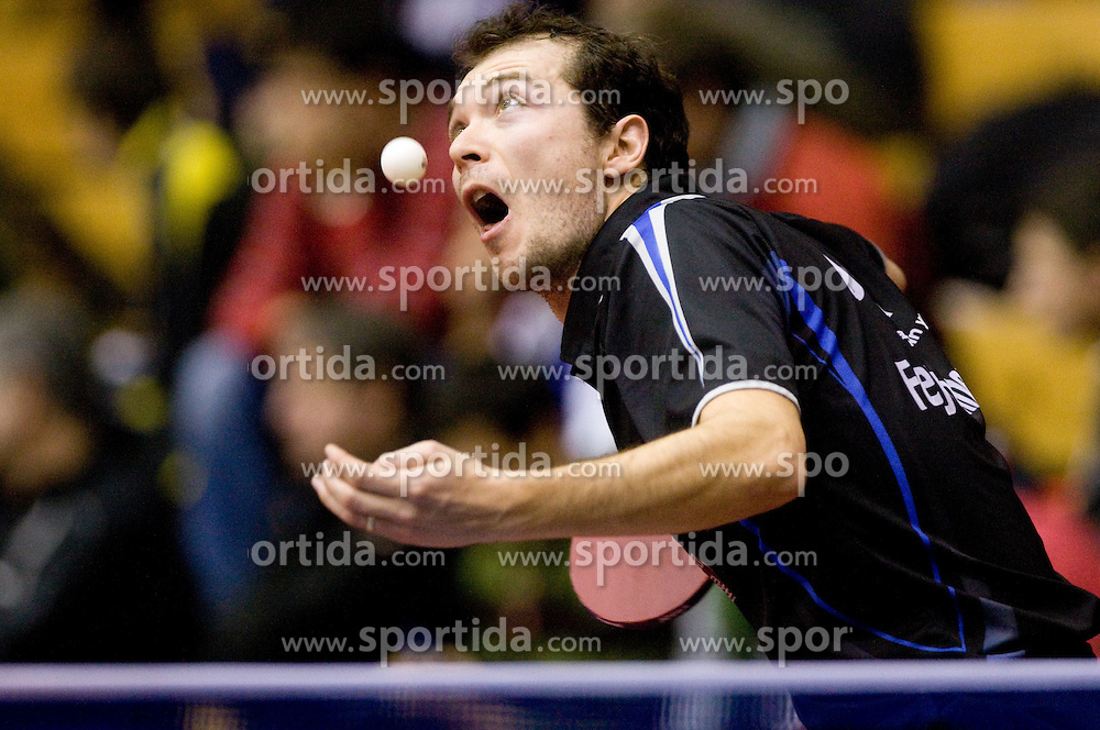 Zoltan Fejer-Konnerth of Germany during Men 1st Round of 11th International Slovenia Open 2010 table tennis tournament, on January 21, 2010 at Red hall in Velenje, Slovenia. (Photo by Vid Ponikvar / Sportida)