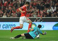 20120316: LISBON, PORTUGAL - Liga Zon Sagres 2011/2012: SL Benfica vs Beira-Mar. In picture: Oscar Cardozo and Rui Rego. PHOTO: Alvaro Isidoro/CITYFILES