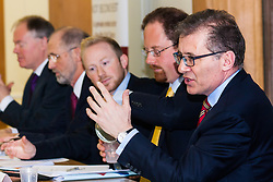 Portcullis House, Westminster, London, January 14th 2014. Members of the Residential Landlords Association attend the launch of their Policy Manifesto and hear views from MPs. PICTURED: Mark Pawset MP answers a question from the audience.