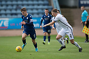 14th September 2019; Dens Park, Dundee, Scotland; Scottish Championship, Dundee Football Club versus Alloa Athletic; Josh McPake of Dundee races away from Scott Taggart of Alloa Athletic