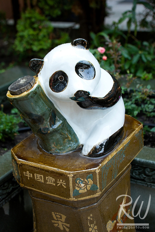 Panda Statue - International Buddhist Temple, Rcihmond, B.C.