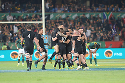 Pretoria, Loftus Versveld Stadium. Rugby Championship. South African Springboks vs New Zealand All Blacks.  06-10-18 All Blacks celebrate after beating the Springboks in the closing minutes of the game.<br /> Picture: Karen Sandison/African News Agency(ANA)