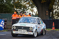 #53 Dave Roberts / Dave Owen Ford Escort MK2 Bolton-le-Moorsduring Neil Howard Memorial Stage Rally, and opening round of the 2015 Motorsport News Rally Championship.  at Oulton Park, Little Budworth, Cheshire, United Kingdom. November 07 2015. World Copyright Peter Taylor. Copy of publication required for printed pictures.  Every used picture is fee-liable. http://archive.petertaylor-photographic.co.uk