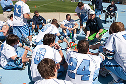 27 March 2010: North Carolina Tar Heels head coach Joe Breschi during halftime of a 9-7 win over the Maryland Terrapins on Fetzer Field in Chapel Hill, NC.