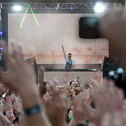 May 17, 2013 - Queens, NY :  The DJ Nicky Romero performs during the first day of the 2013 New York 'Electric Daisy Carnival,' an electronic dance music festival, at Citi Field in Queens, on Friday. CREDIT: Karsten Moran for The New York Times CREDIT: Karsten Moran for The New York Times