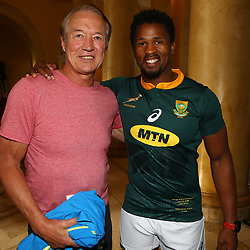 Rob Louw former South African rugby player Sikhumbuzo Notshe of South Africa  during the South African Springbok team photo,at the The Cullinan Hotel in Cape Town.South Africa. 22,06,2018 22,06,2018 Photo by (Steve Haag JMP)