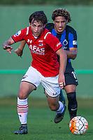 ESTEPONA - 07-01-2016, AZ in Spanje 7 januari, Club Brugge, 2-2, AZ speler Joris van Overeem, Club Brugge speler Felipe Gedoz