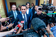 ROME, ITALY - JULY 19:  Luigi Di Maio, Minister of Labour and Economic Development and Vice Premier  during a visit to the Citadel of Charity of St Jacinta of Rome and to meet the operators who fight against ludopathyon July 19, 2018 in Rome, Italy. (Photo by Stefano Montesi - Corbis/Getty Images)*** Local Caption ***Luigi Di Maio,;