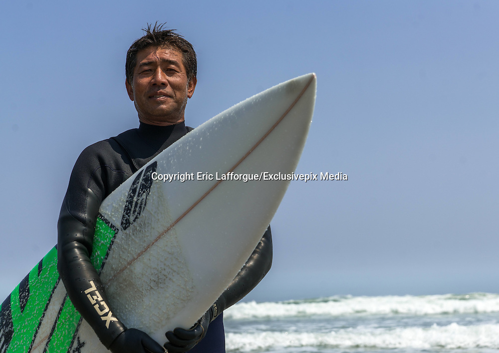 """THE ATOMIC SURFERS FROM FUKUSHIMA<br /> <br /> On march 11 at 2:46 pm 2011, Japan was hit by a 9.0  earthquake magnitude which generated a tsunami on the japanese coasts. Here in Futaba beach, the giant wave has broken the first floor of an hotel.<br /> <br /> 18,500 people died , 90% drowned by the tsunami wave . The bodies of 2,561 of these people were not found. Steles are visible along the roads to honor them.<br /> <br /> <br /> <br /> 5 years later, the scars of the tsunami are still visible like  in Tomioka town . The law now prohibits to live in areas destroyed by the tsunami . Only the industrial or commercial activities are allowed, but the candidates are very few to come.<br /> <br /> <br /> <br /> The road  fences have been bent by the strenght of the waves. Only the police patrols in the area to monitor the few houses still standing and controlling the curious visitors. In the distance the speakers encourage visitors and workers to consult a doctor in case of persistent headaches .<br /> <br /> <br /> <br /> The tsunami hit the Daaitchi nuclear plant , that can be spotted from Futaba beach . The disaster was rated level 7, the equivalent of Chernobyl. In 5 years, nearly 50 000 people have worked with strong financial incentives to decontaminate the plant and stop the leaks.<br /> <br /> <br /> Radiations sensors indicate the radioactivity level, but in these red zones classified as """" difficulty to return zone"""" by the governement,  there is no one to read. 1 millisievert is the maximum permissible exposure limit during one year for humans..<br /> <br /> <br /> Depending on the degree of contamination in which is their home , residents receive compensation from TEPCO company. In the red zone they receive $ 1,000 per month per person . This creates tension in the population because those who are on the other side of the fence as here in Tomioka , receive nothing.<br /> <br /> <br /> In the «orange zone» , residents have the right to visit their home if the"""