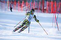 Gunstock Ski Club's J3 Qualifier slalom ski race at Gunstock Mountain January 15, 2012.