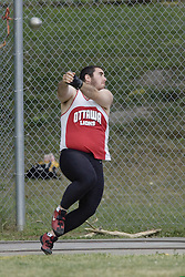 Ryan Rowat competing in senior men's hammer throw  at the 2007 OTFA Junior-Senior Championships held in Ottawa from 30 June to July 1.