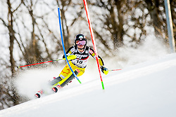 """Erin Mielzynski (CAN) during FIS Alpine Ski World Cup 2016/17 Ladies Slalom race named """"Snow Queen Trophy 2017"""", on January 3, 2017 in Course Crveni Spust at Sljeme hill, Zagreb, Croatia. Photo by Žiga Zupan / Sportida"""