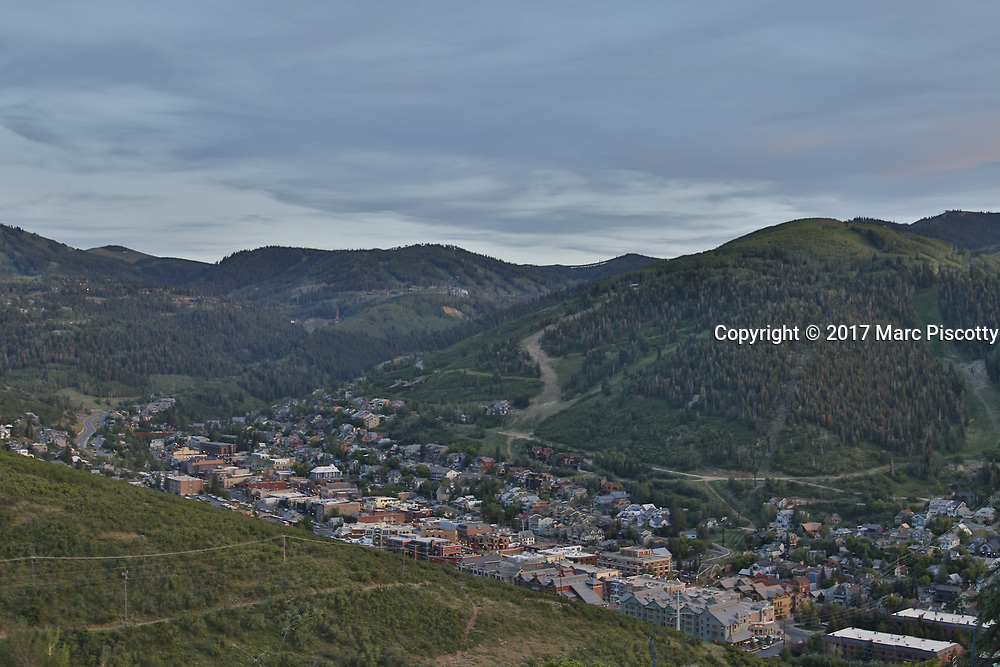 SHOT 7/1/17 8:01:32 PM - Park City lies east of Salt Lake City in the western state of Utah. Framed by the craggy Wasatch Range, it's bordered by the Deer Valley Resort and the huge Park City Mountain Resort, both known for their ski slopes. Utah Olympic Park, to the north, hosted the 2002 Winter Olympics and is now predominantly a training facility. In town, Main Street is lined with buildings built during a 19th-century silver mining boom. (Photo by Marc Piscotty / © 2017)