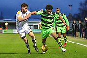 Forest Green Rovers Reuben Reid(26) and Port Vale's Joe Davis(5) during the EFL Sky Bet League 2 match between Forest Green Rovers and Port Vale at the New Lawn, Forest Green, United Kingdom on 6 January 2018. Photo by Shane Healey.