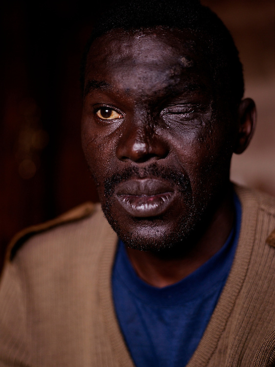 "Daniel Zakhele Maseko, born in 1970, went into exile in 1989 after years of fighting for the underground.  He burned cars and white owned businesses and frequently clashed with the police, who routinely came to his house.  His parents no longer wanted the attention of the authorities and kick him out of the house.  ""For me as an individual, life wasn't good. Most of us were politically motivated and automatically along the way there were some activities that led to harassment by the police"""