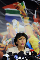 FOOTBALL - FIFA WORLD CUP 2010 - MISCS - GROUP A - 100621 - ROSELYNE BACHELOT PRESS CONFERENCE - 21/06/2010 - PHOTO FRANCK FAUGERE / DPPI