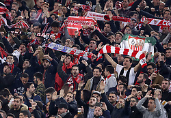 February 14, 2019 - Rome, Italy - SS Lazio v Fc Sevilla : UEFA Europa League Round of 32 .Sevilla supporters at Olimpico Stadium in Rome, Italy on February 14, 2019. (Credit Image: © Matteo Ciambelli/NurPhoto via ZUMA Press)