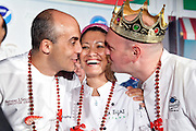 Cafe Adelaide Executive Chef Chris Lusk wins the Louisiana Seafood Cookoff during the New Orleans Wine and Food Experience Grand Tasting featuring Paula Deen, Aarón Sanchez & John Besh
