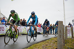 Mavi Garcia crests the VAMberg at Ronde van Drenthe 2018 - a 157.2 km road race on March 11, 2018, from Emmen to Hoogeveen, Netherlands. (Photo by Sean Robinson/Velofocus.com)