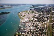 Overview of Wyandotte, MI, south of Detroit along the Detroit River