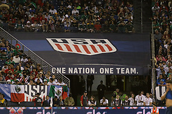 September 11, 2018 - Nashville, TN, U.S. - NASHVILLE, TN - SEPTEMBER 11:  The U.S. Soccer logo is on display during the game between the United States National team and the Mexico National team on September 11, 2018 at Nissan Stadium in Nashville, Tennessee. (Photo by Michael Wade/Icon Sportswire) (Credit Image: © Michael Wade/Icon SMI via ZUMA Press)