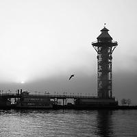 Bicenntenial Tower black and white