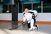 Los Angeles Chef Sang Yoon poses for a portrait on the ice at Toyota Sports Center in El Segundo, California December 17, 2015.<br /> <br /> CREDIT: Kendrick Brinson for The Wall Street Journal