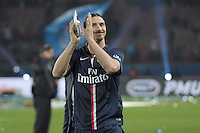 joie PSG / Zlatan Ibrahimovic - 23.05.2015 - PSG / Reims - 38eme journee de Ligue 1<br />