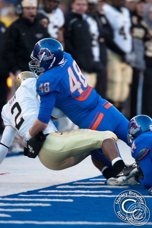 Nov. 14th 2009. The Boise State Broncos football team defeated the University of Idaho Vandals 63-25 on the blue turf of Bronco Stadium in Boise Idaho