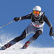 Emily Wright, New Zealand, in action during the Women's Giant Slalom competition at Coronet Peak, New Zealand during the Winter Games. Queenstown, New Zealand, 23rd August 2011. Photo Tim Clayton