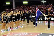 Silver Ferns pre match. Constellation cup netball. Silver Ferns v Australian Diamonds at ILT Velodrome, Invercargill, New Zealand. Sunday 15th september 2013. New Zealand. Photo: Richard Hood/photosport.co.nz