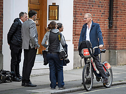 © Licensed to London News Pictures. 23/05/2019. London, UK. BEN LEADSOM (right), husband of ANDREA LEADSOM MP seen is seen talking to media as he leaves their London home, the morning after Andrea Leadsom resigned from Government. Today UK citizens will controversially go to the polls in the European elections, three years after a majority voted to leave the EU. Photo credit: Ben Cawthra/LNP