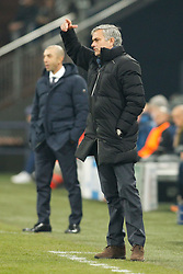 "25.11.2014, Veltins Arena, Gelsenkirchen, GER, UEFA Euro Qualifikation, Schalke 04 vs FC Chelsea, Gruppe G, im Bild Headcoach Jose ""the special one"" Mourinho (FC Chelsea) // during the UEFA Champions League group G match between Schalke 04 and Chelsea FC at the Veltins Arena in Gelsenkirchen, Germany on 2014/11/25. EXPA Pictures © 2014, PhotoCredit: EXPA/ Eibner-Pressefoto/ Schueler<br /> <br /> *****ATTENTION - OUT of GER*****"