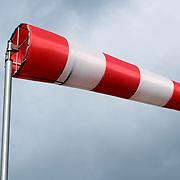Nederland Flevoland 12 maart 2008 20080312 .Storm windvlag ..Foto David Rozing