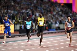 Usain Bolt of Jamaica in action - Mandatory byline: Patrick Khachfe/JMP - 07966 386802 - 04/08/2017 - ATHLETICS - London Stadium - London, England - Men's 100m Round 1 - IAAF World Championships