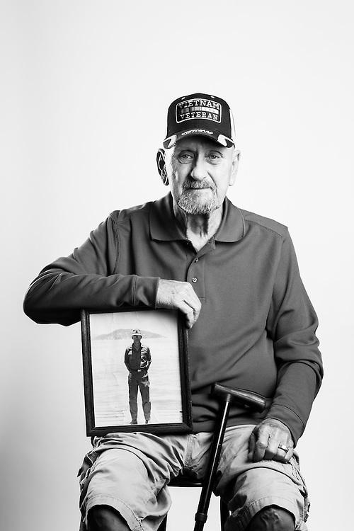 Larry Keune<br /> Army<br /> E-6<br /> River Boat <br /> Aug. 1967 - Aug. 1979<br /> Vietnam<br /> <br /> <br /> Veterans Portrait Project<br /> Junction City, KS