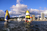 Sailboat Race, Waikiki, Oahu, Hawaii